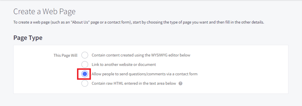 Allow people to send questions/ comments via a contact form