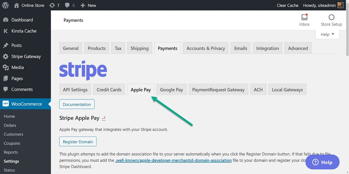 Enable payment request buttons