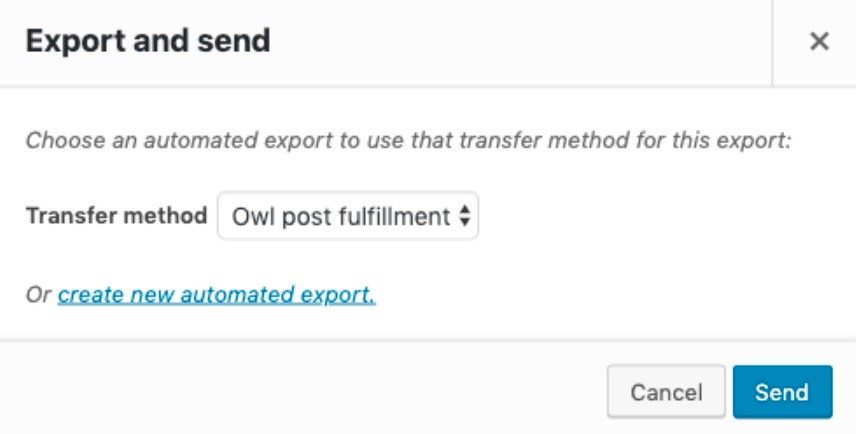 Exporting data from the Orders list