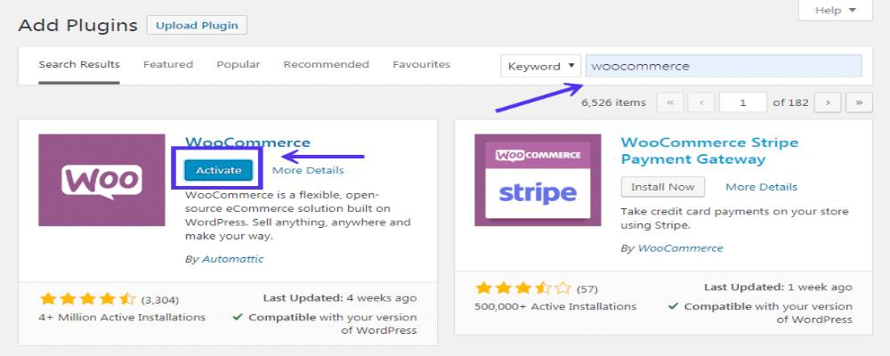 Install and Activate WooCommerce