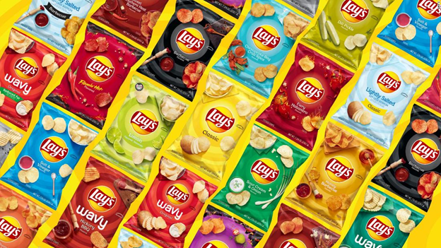 LAY'S always has colorful packaging to entertain their customers