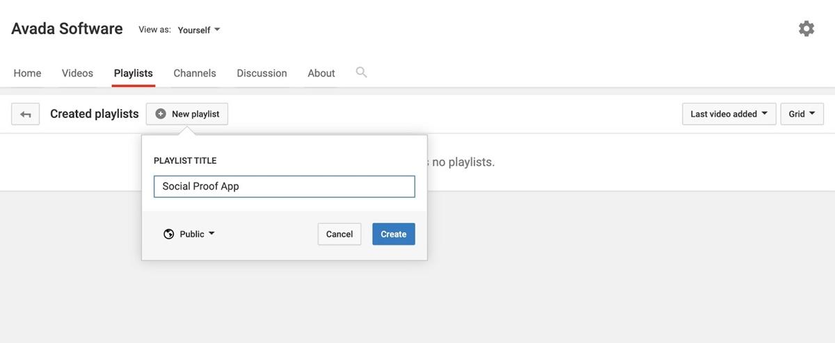 Categorize videos into playlists