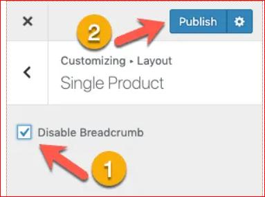 Disable Breadcrumb
