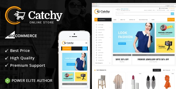 Catchy BigCommerce Theme preview Source: Themeforest