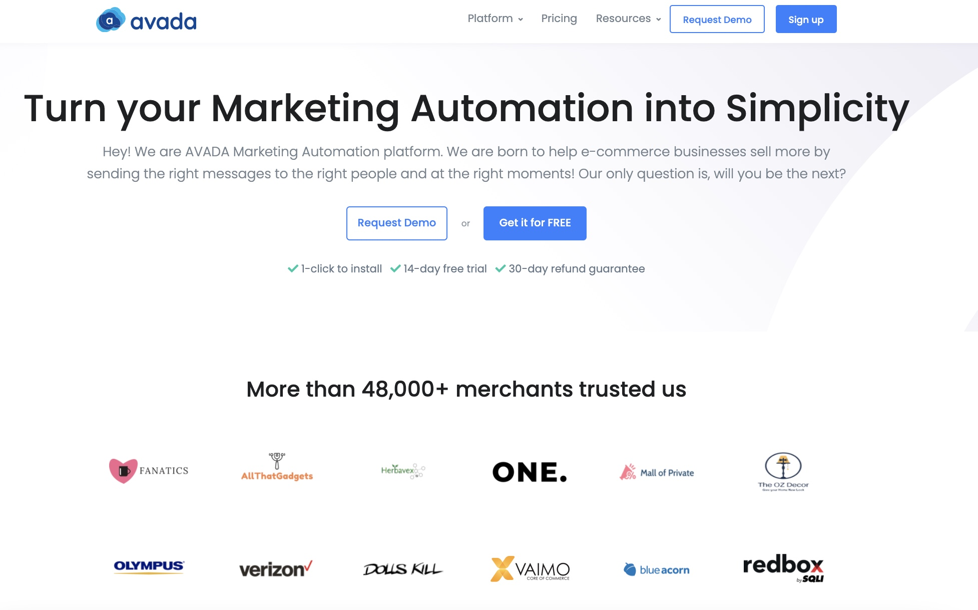 Use AVADA Marketing Automation to set up opt-in email forms