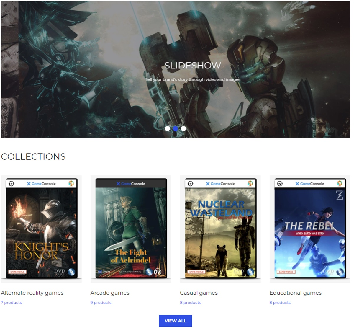 Game Console Shopify template
