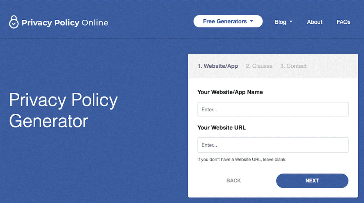 Get your free Terms of Service with Privacy Policy Generator Source: Privacy Policy Online