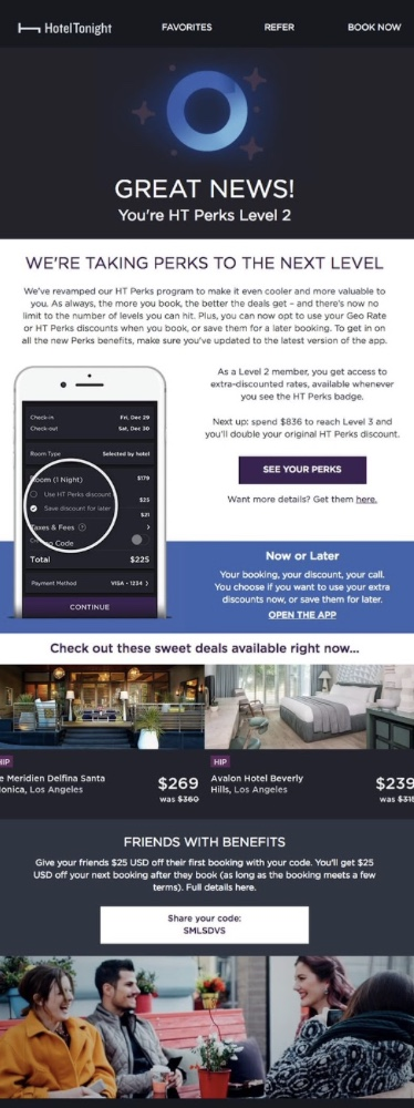 The loyalty or referral program