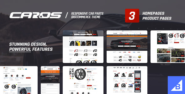 Caros BigCommerce Theme preview Source: ThemeForests