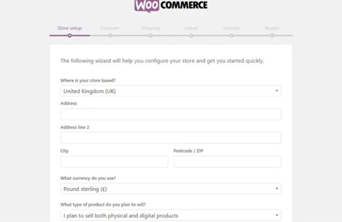 Build your WooCommerce store
