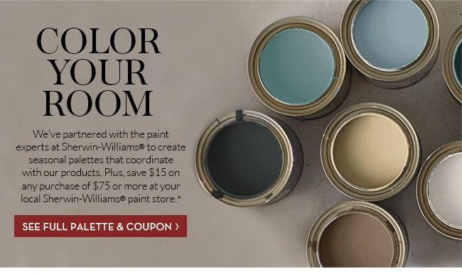 """Pottery Barn & Sherwin-Williams's """"Color your Room"""""""