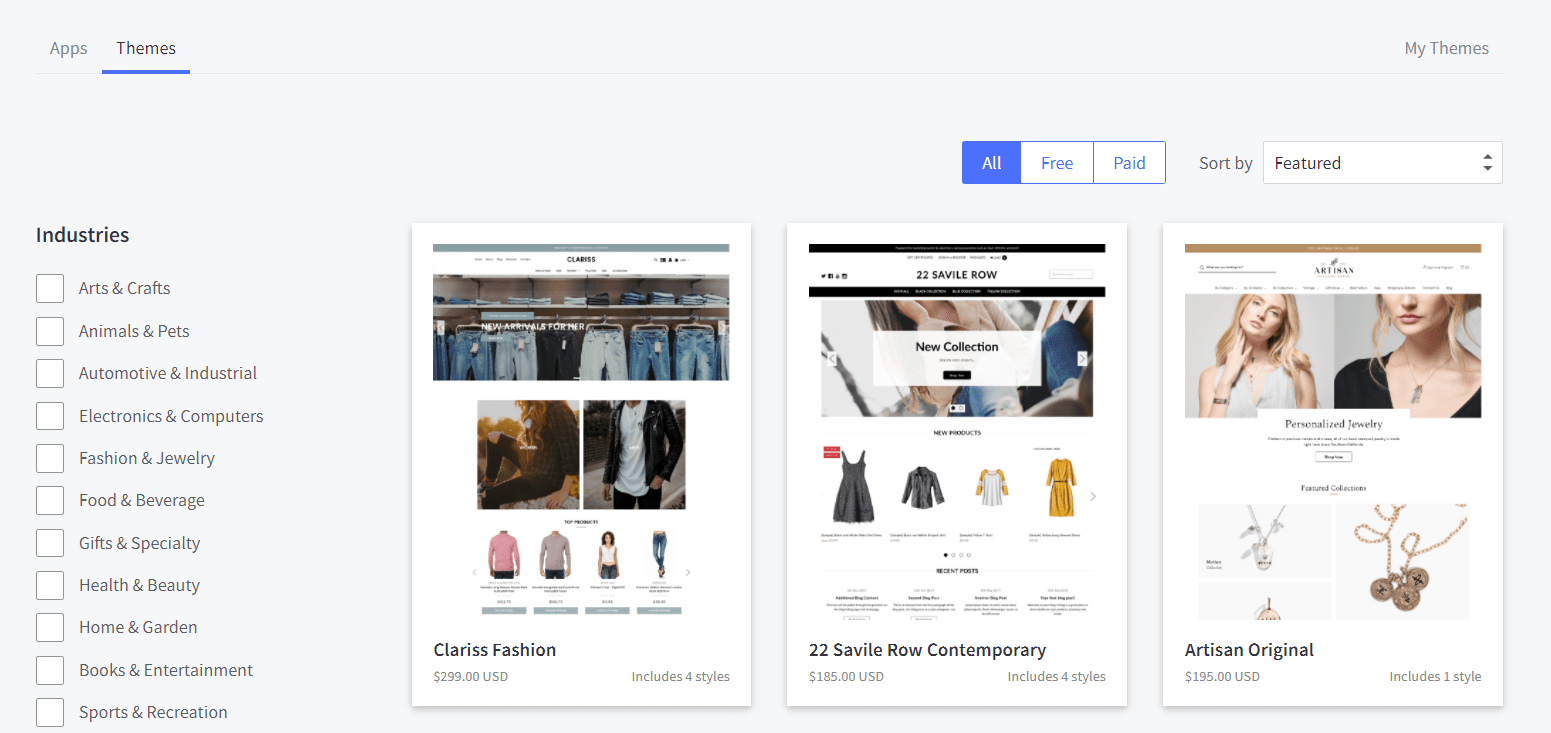 BigCommerce Theme Marketplace