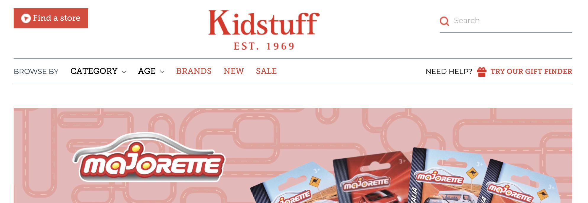 Kidstuff website