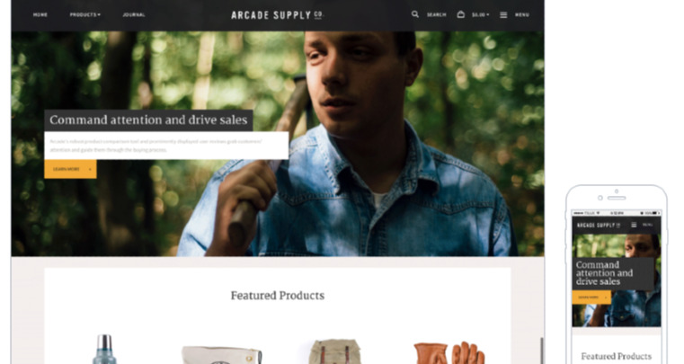Arcade Natural Responsive BigCommerce Theme Source: Clever ECommerce