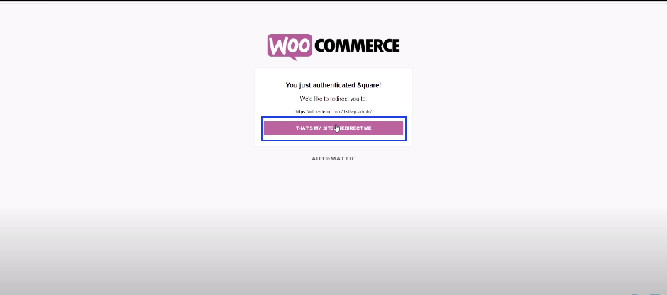 Connect your site to the Square