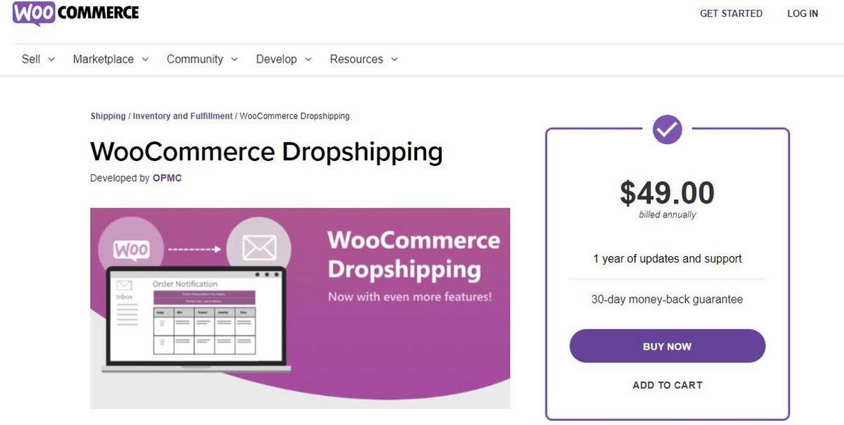 example of WooCommerce Dropshipping