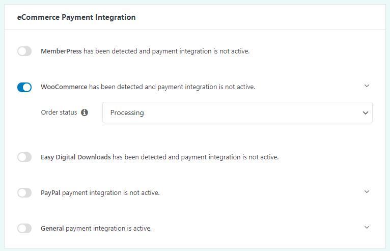 Set up WooCommerce payment integration