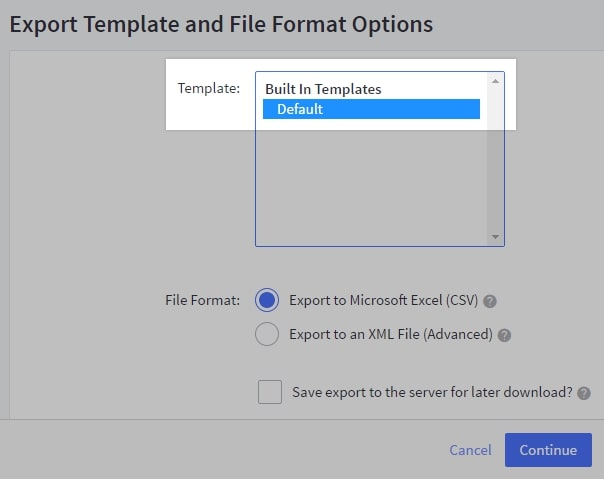 Default 301 redirects exporting