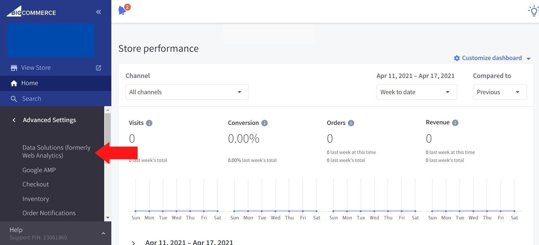 BigCommerce Web Analytics