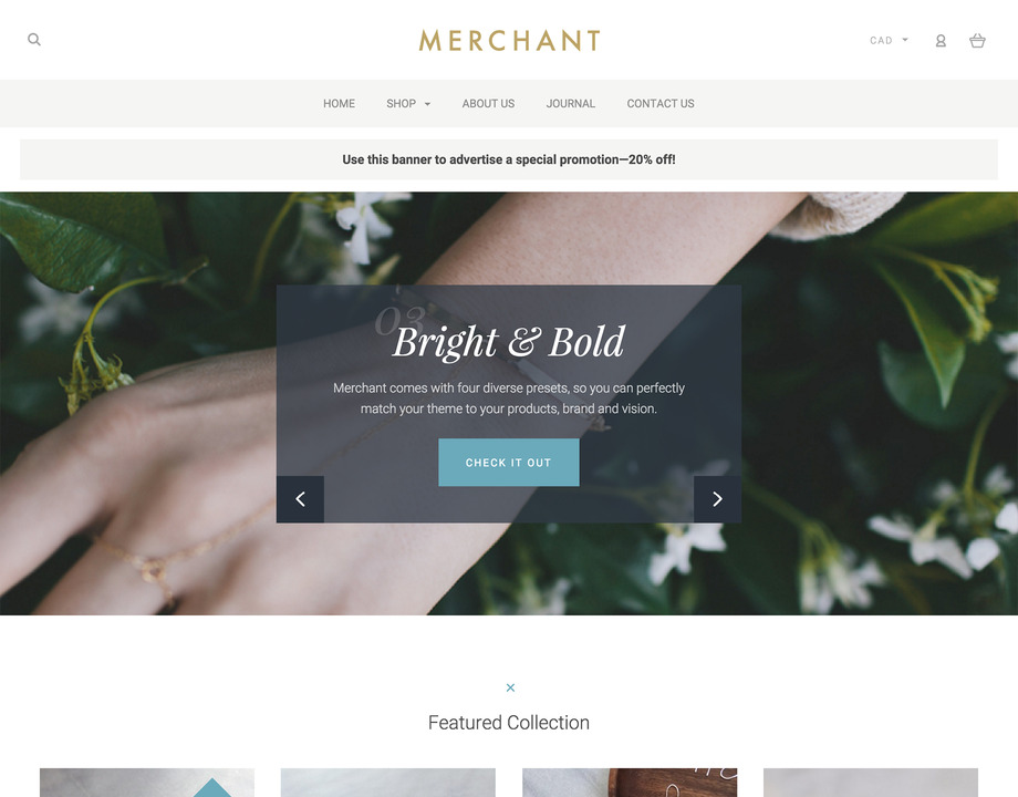 Merchant Bold BigCommerce Theme preview Source: Free Website