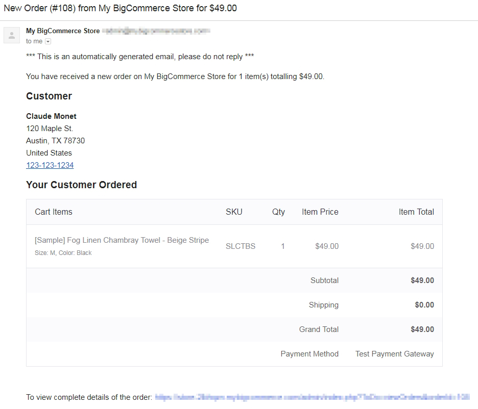 What are BigCommerce order notifications?