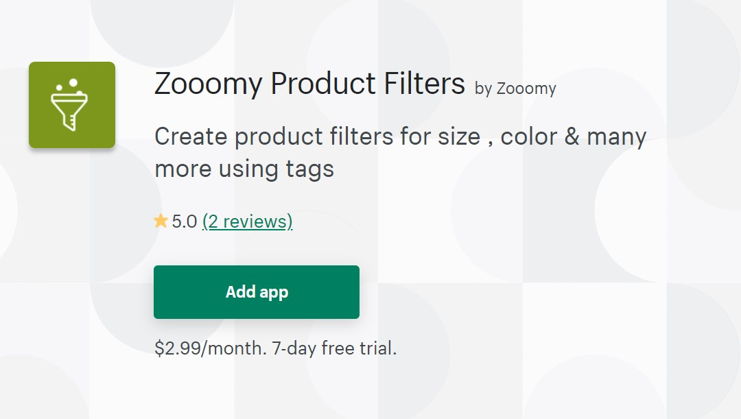Zoomy Product Filters