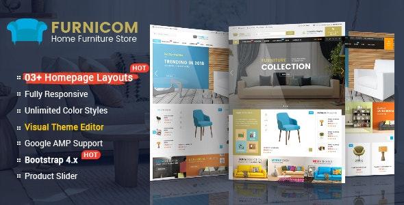 Furnicom BigCommerce Theme preview Source: Themeforest