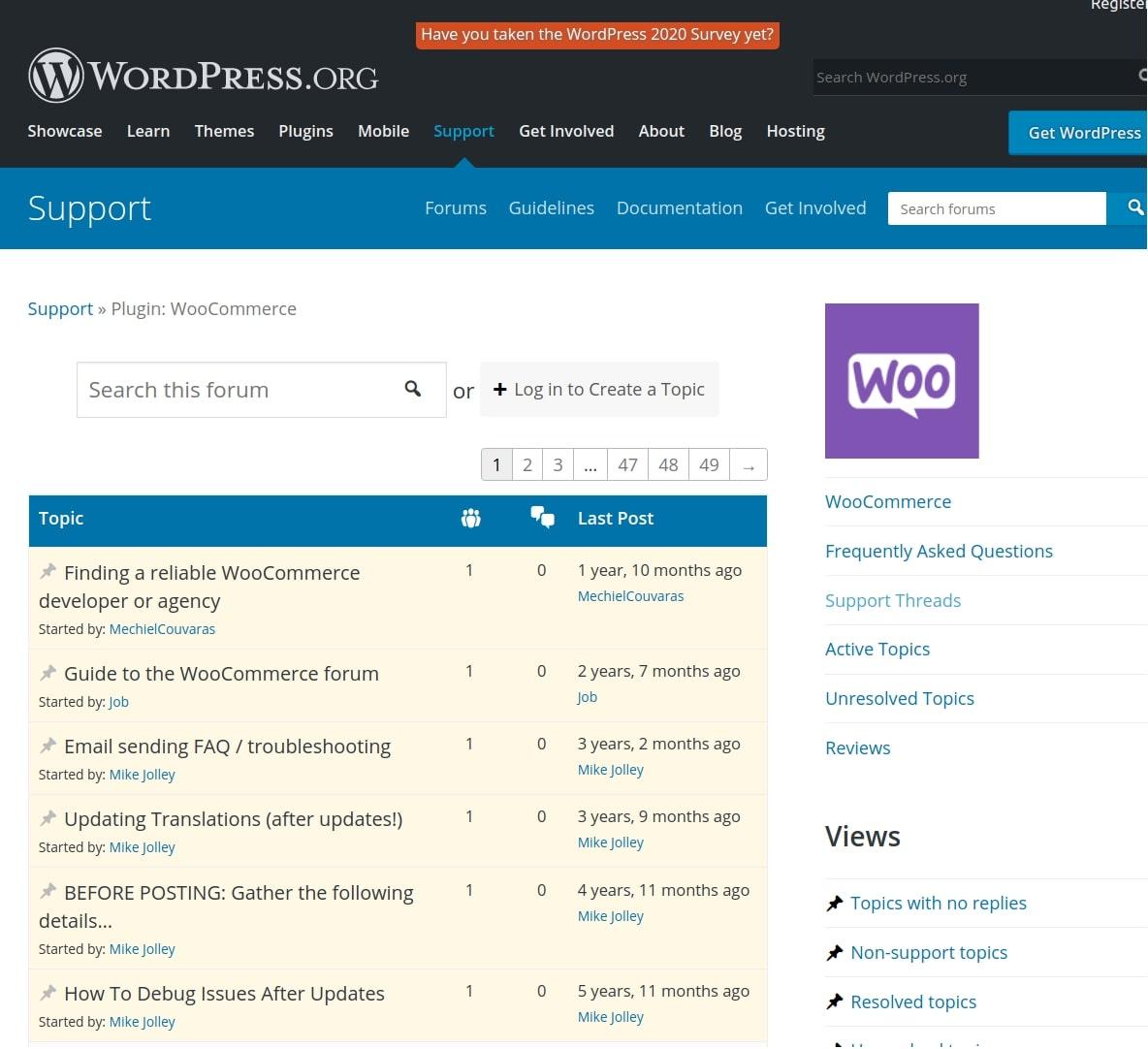 WooCommerce WoordPress community