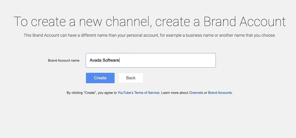 Create brand name