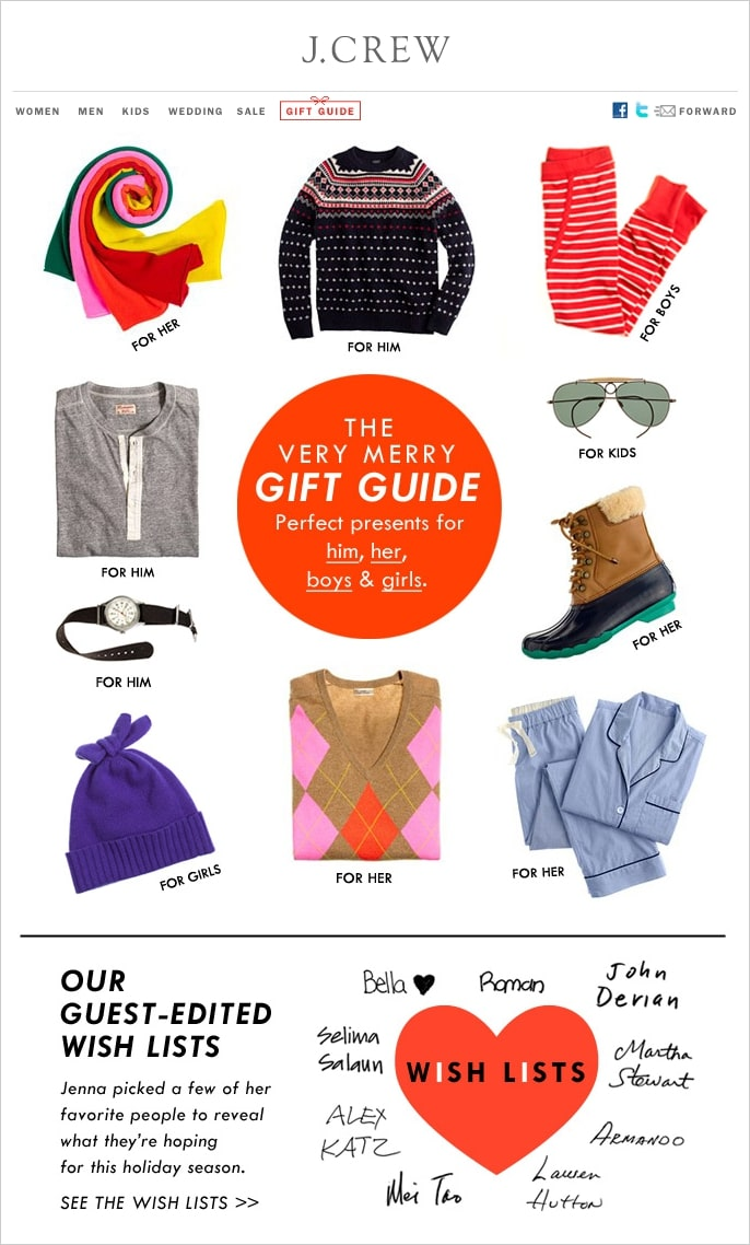 Come out with holiday gift guides