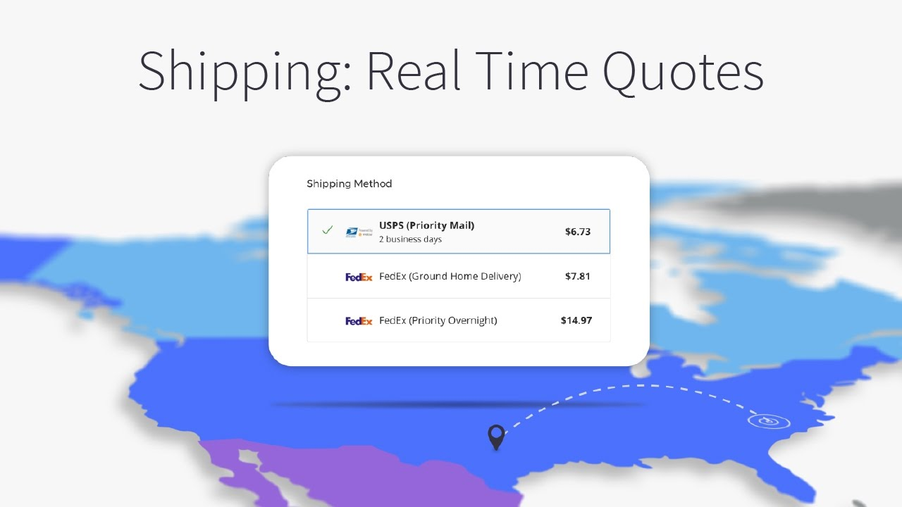 Real time shipping quotes