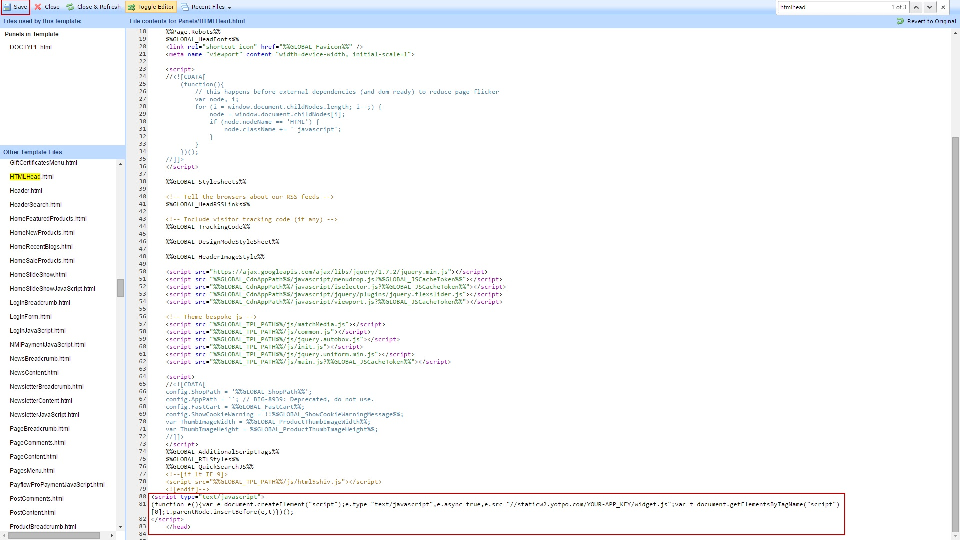 Editing the source code