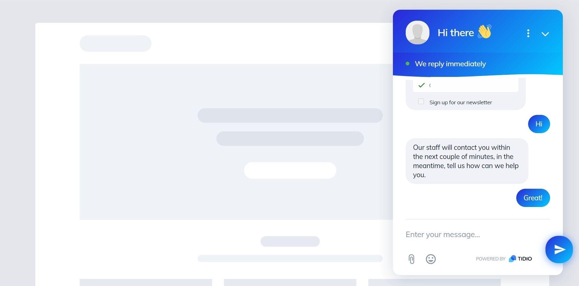 BigCommerce Live Chat window