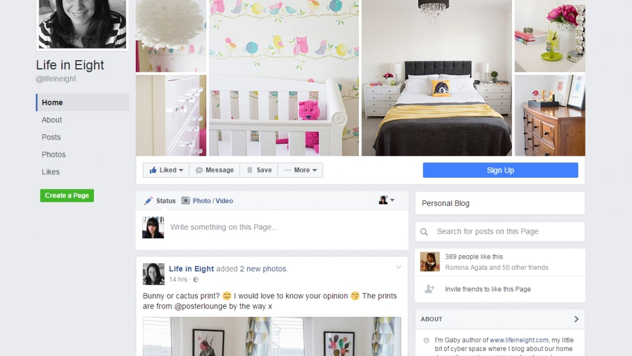 Add a signup button to your Facebook business page