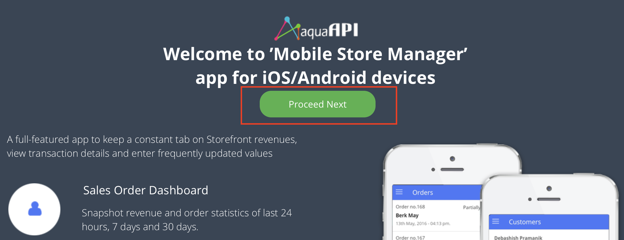 Mobile Store Manager by AquaAPI