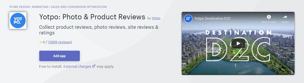 Yotpo - Customer reviews