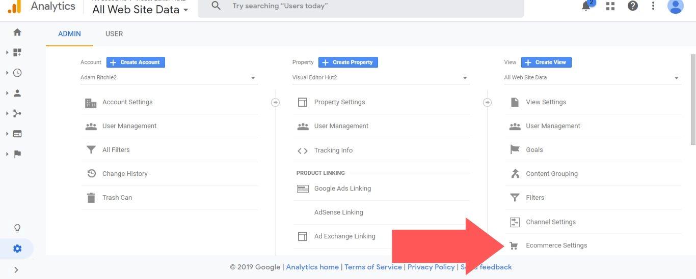 Select Ecommerce Settings