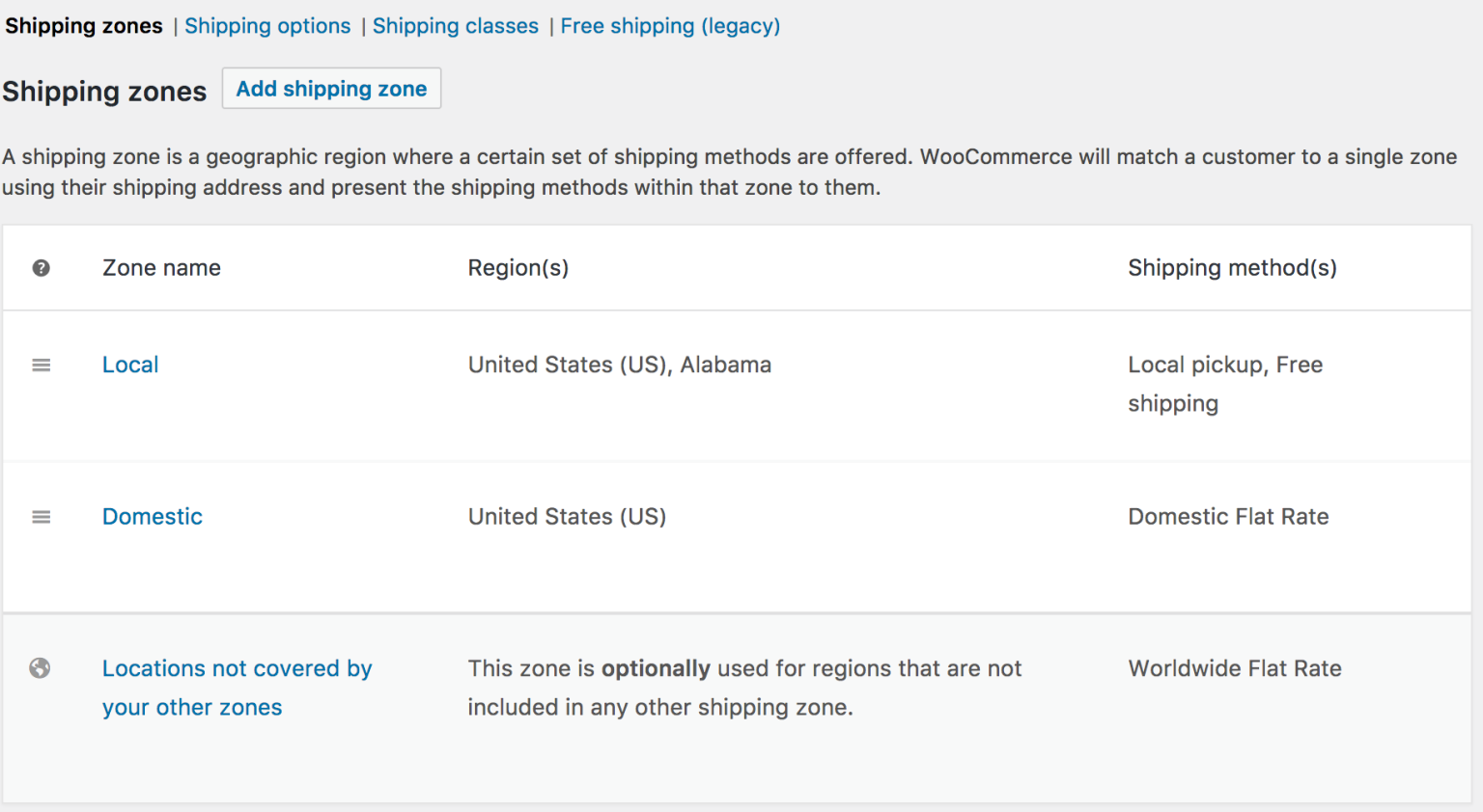 Create flat rate shipping
