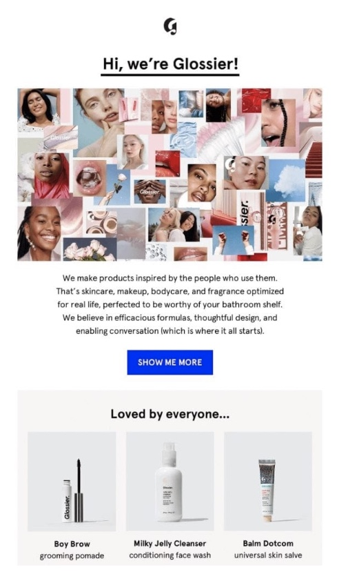 The product showcase email