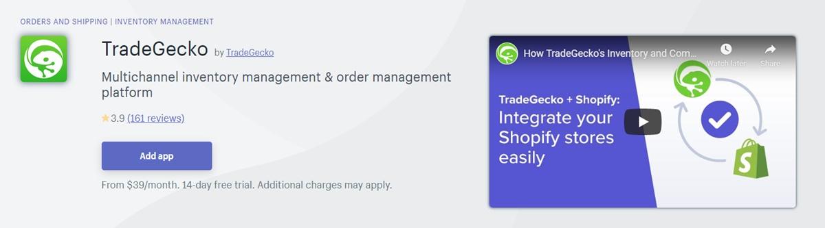 TradeGecko - Inventory management