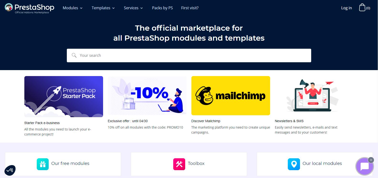 PrestaShop's Add-ons Marketplace