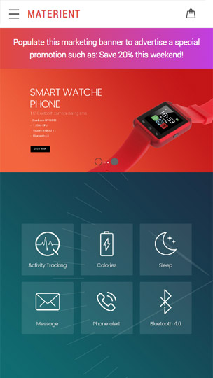 Materient Smart Watches BigCommerce Theme preview Source: Ethemes Blog