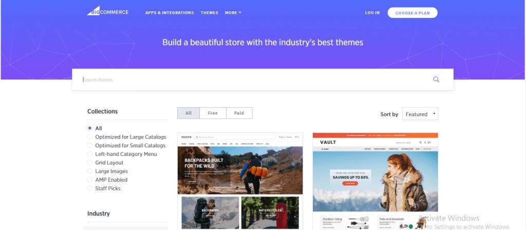 Pick up BigCommerce themes
