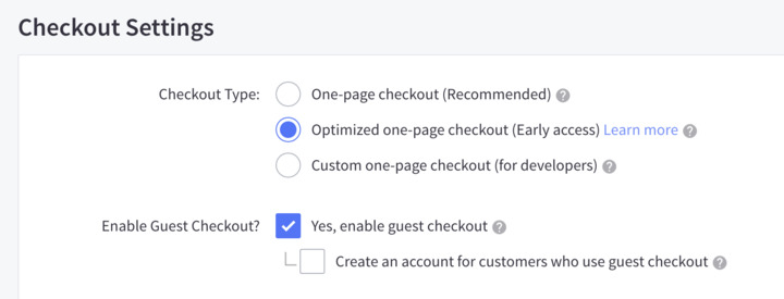 Make sure that your BigCommerce site uses the checkout of Optimized One-Page