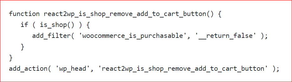 Code for not only functions.php files but also woocommerce.php files