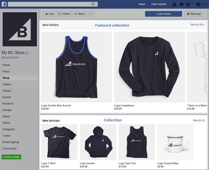 List and manage your BigCommerce products on Facebook