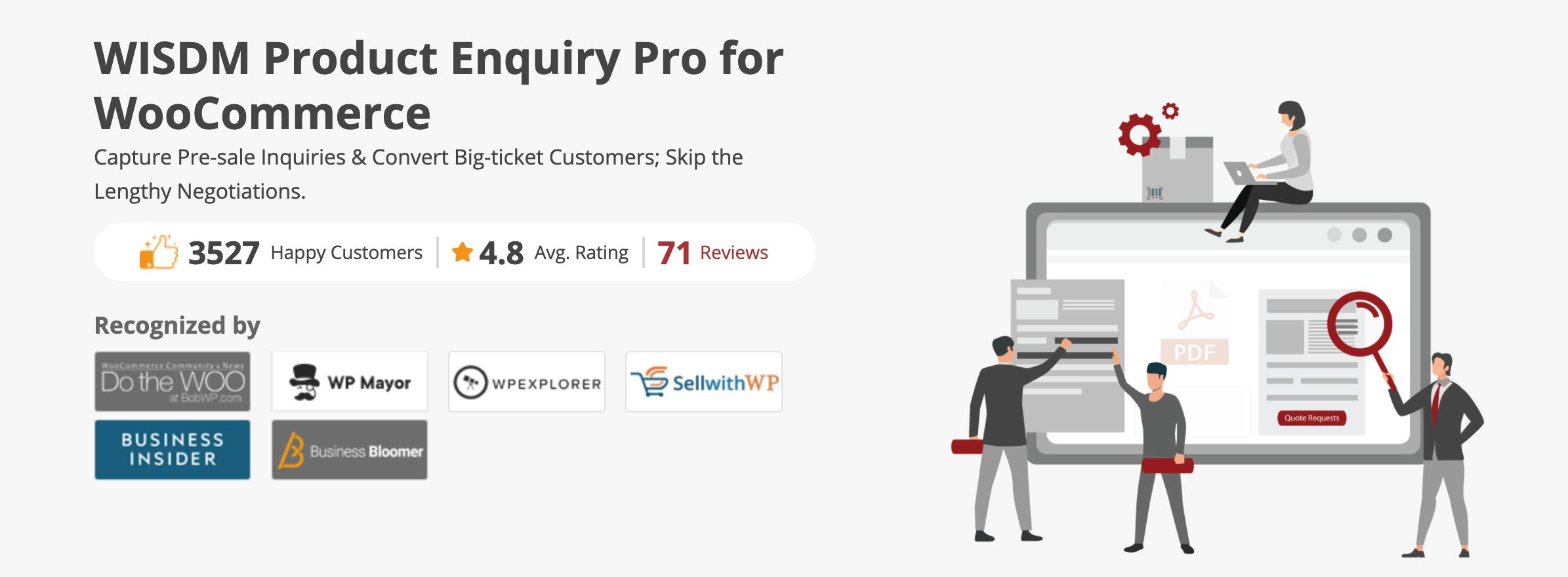 WISDM Product Enquiry Pro