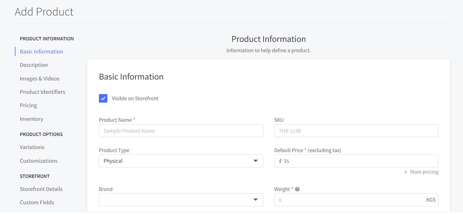 Add basic product descriptions
