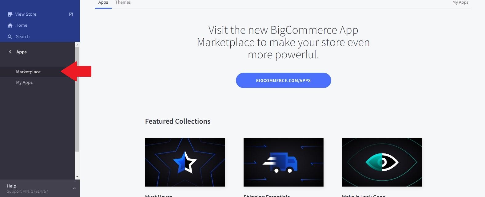 BigCommerce Marketplace page