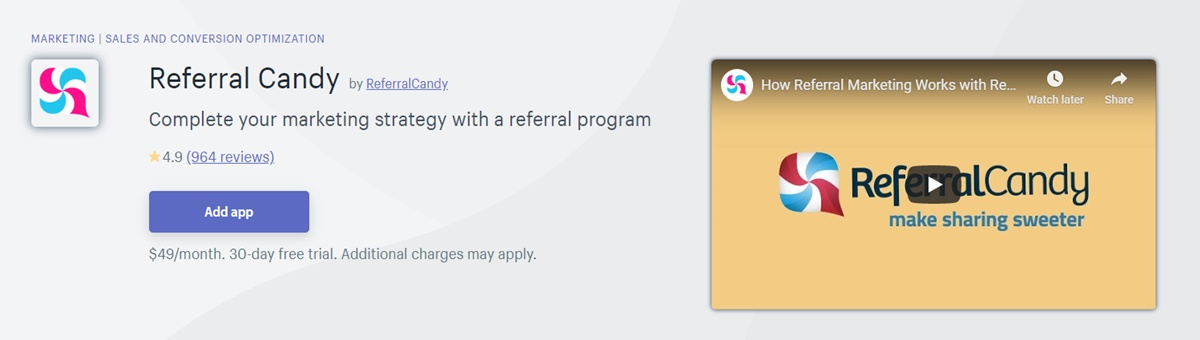 ReferralCandy - Referral program